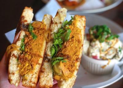 Dixie Dharma Jackfruit BBQ Sandwich