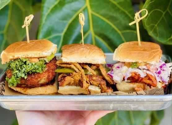 vegan sliders on rolls